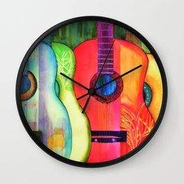 Guitars - Good Wood  Wall Clock