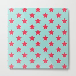 red star blue background Metal Print