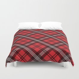 Scottish Plaid-Red Duvet Cover