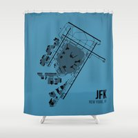 jfk Shower Curtains featuring JFK by 08 Left