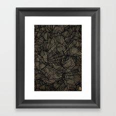 - étoile noire [blackstar] - Framed Art Print