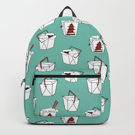 Rice takeout chinese food container new york style chinese food pattern Backpack