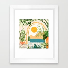 Villa View Tropical Landscape / Villa Series Framed Art Print