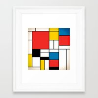 mondrian Framed Art Prints featuring Mondrian  by Studio 401