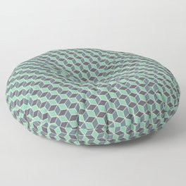 Pistachio Grey Seamless Cube Pattern Floor Pillow