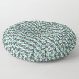 Pistachio Grey Seamless Cube Pattern Floor Pillow