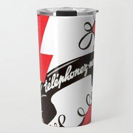 Vintage Graphic Phone Call Me Design Travel Mug