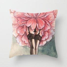 Sexy flower Throw Pillow