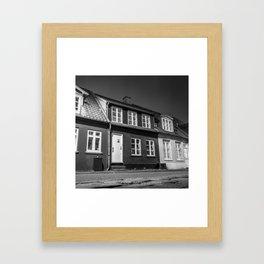 Charming houses, Aarhus Framed Art Print