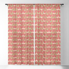 Anytime Is Mistletoe Time! Sheer Curtain