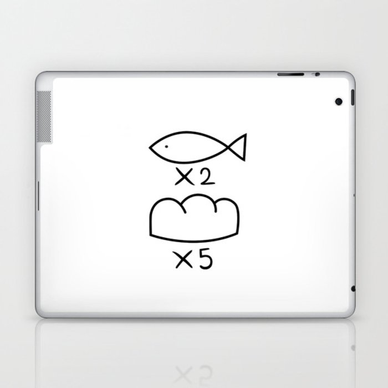 Feeding the multitude Laptop & iPad Skin