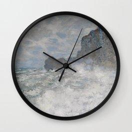 Claude Monet Rough weather at Étretat Wall Clock