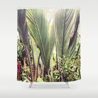 botanical Shower Curtains featuring Botanical by Fig and Berry Clothing