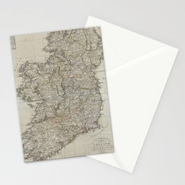 Vintage Map of Ireland (1804) Stationery Cards