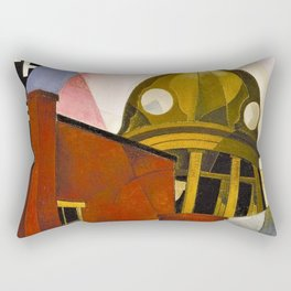 Welcome to our City, A Portrait by Charles Demuth Rectangular Pillow