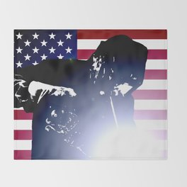 Welder: American Flag Throw Blanket