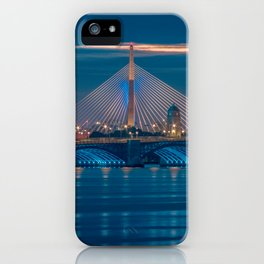 Zakim and Longfellow Bridge iPhone Case