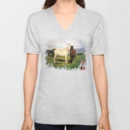Caballos/Cabalos/Horses Unisex V-Neck