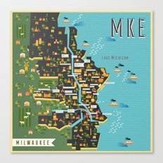 Mapping  Milwaukee Canvas Print