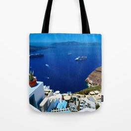 Santorini Caldera Tote Bag