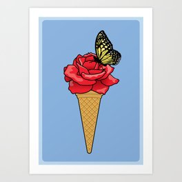 Butterfly Ice Cream Art Print