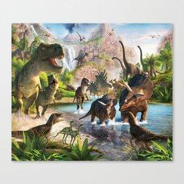 Jurassic dinosaur Canvas Print