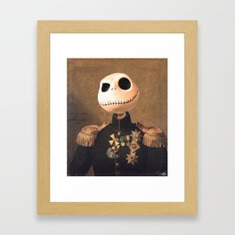 Jack Skellington General Portrait Painting | Fan Art Framed Art Print