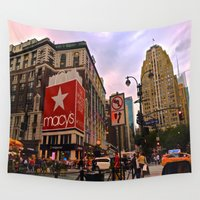 manhattan Wall Tapestries featuring Manhattan by Jaime Viens