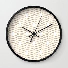 Elegant Geometric Gold Pattern Illustration Wall Clock