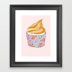 Cute as a cupcake! Framed Art Print