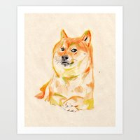 doge Art Prints featuring DOGE by withapencilinhand