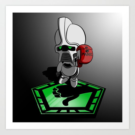 The Hitchhikers Guide to the Galactica Art Print