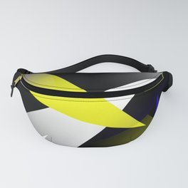 Space Age 3-D Shards Abstract  Fanny Pack
