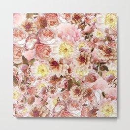 pink floral print | flower photography Metal Print