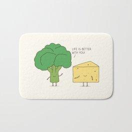 Broccoli and cheese Bath Mat