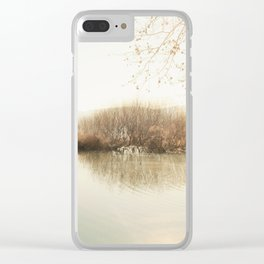 Autumn Lake Scene Clear iPhone Case