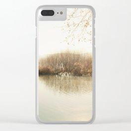 Autumn Lake Scene Clear iPhone Case