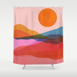 Abstraction_OCEAN_Beach_Minimalism_001 Shower Curtain