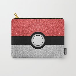 Sparkly red and silver sparkles poke ball Carry-All Pouch