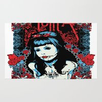 lolita Area & Throw Rugs featuring Lolita by Tshirt-Factory