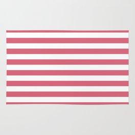 Large Nantucket Red Horizontal Sailor StripesLarge Nantucket Red Horizontal Sailor Stripes Rug