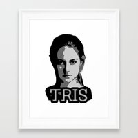 divergent Framed Art Prints featuring Divergent: Tris by Flash Goat Industries