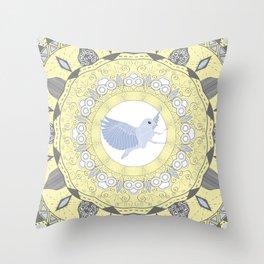 Blue Specter Throw Pillow