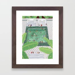 Green Riad Framed Art Print