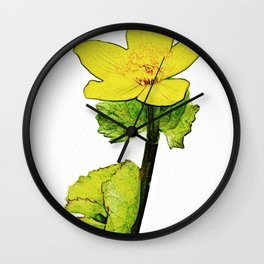 Marsh Marigold Wall Clock