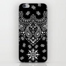 black and white bandana iPhone & iPod Skin