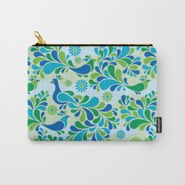 Retro Peacock Carry-All Pouch