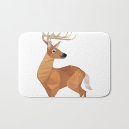 Low Poly White-tailed Deer Bath Mat