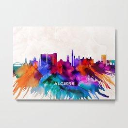 Algiers Skyline Metal Print
