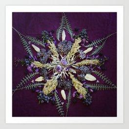Nature Mandala: September Art Print
